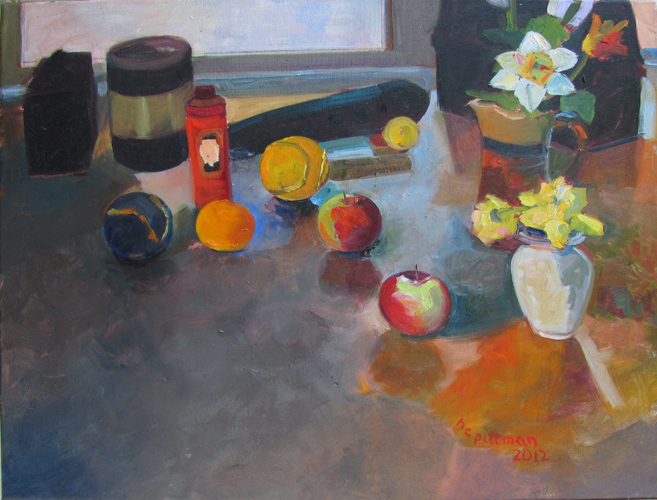 Apples and Oranges<br />oil on canvas