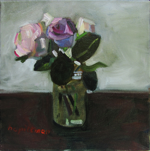 Roses in a Jar<br />oil on canvas